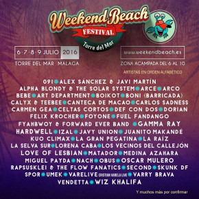 El Weekend Beach sigue aumentando su lind up