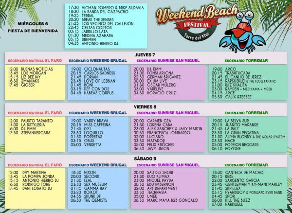 Horarios Weekend Beach