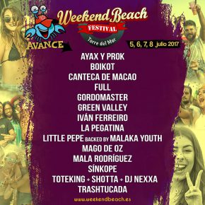 Primeras confirmaciones del Weekend Beach Festival Torre del Mar